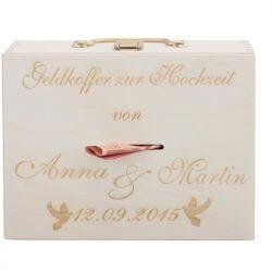 Geldgeschenk Koffer für die Hochzeitsreise