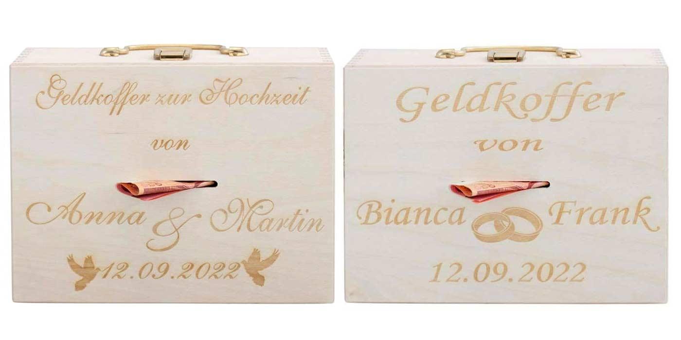 Hochzeitsgeschenk Koffer  Tolles Geldgeschenk
