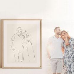 Personalisiertes Bild Hochzeit