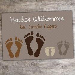 Fußmatte Fußabdrücke