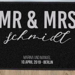 Mr Mrs Fußmatte