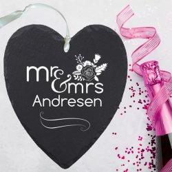 Hochzeitsgeschenk Schiefer