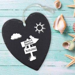 Hochzeitsgeschenk Schieferplatte