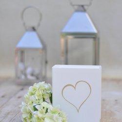 Hochzeitsspardose mit Herz-Motiv