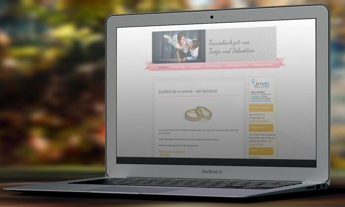 Hochzeitshomepage Erstellen