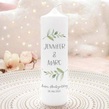 Greenery Hochzeitskerze