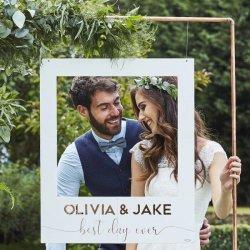 Hochzeit Bilderrahmen Gäste fotografieren