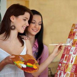 Leinwand bemalen - das kreative Hochzeitsspiel