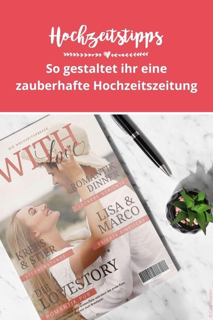 Ideen Hochzeitszeitung