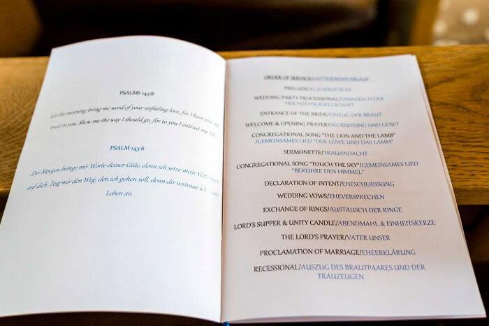 Kirchenheft Für Die Hochzeit Anleitung Hochzeitsportal24