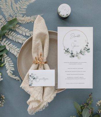 Hochzeit Speisekarte