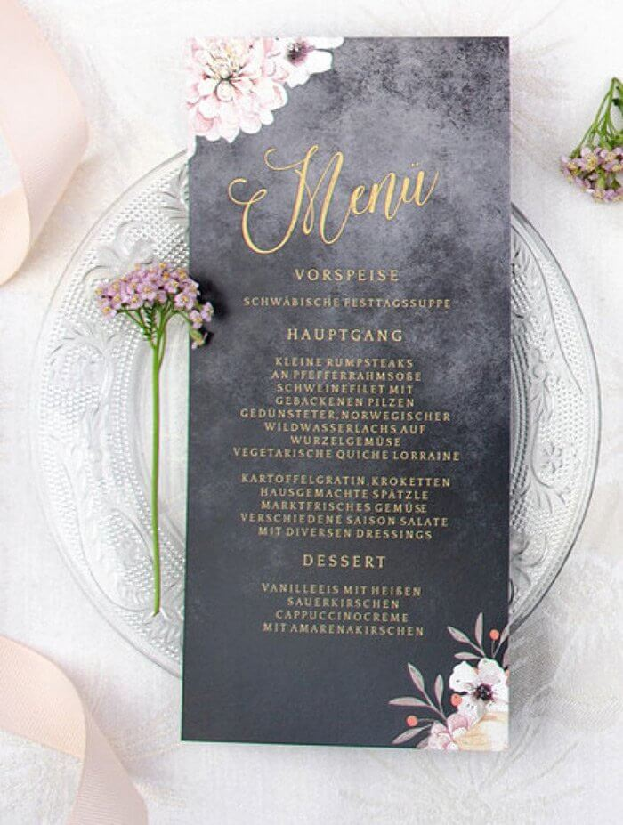 Das Hochzeitsessen Menu Oder Buffet Daskartendruckhaus Magazin
