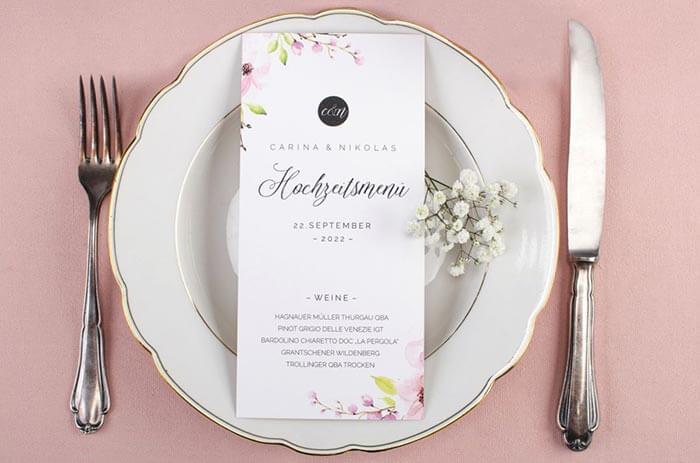 Weinkarte Hochzeit
