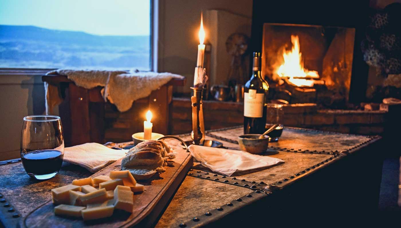 Romantischer Abend zuhause