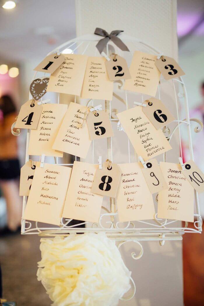 Hochzeit Tischplan