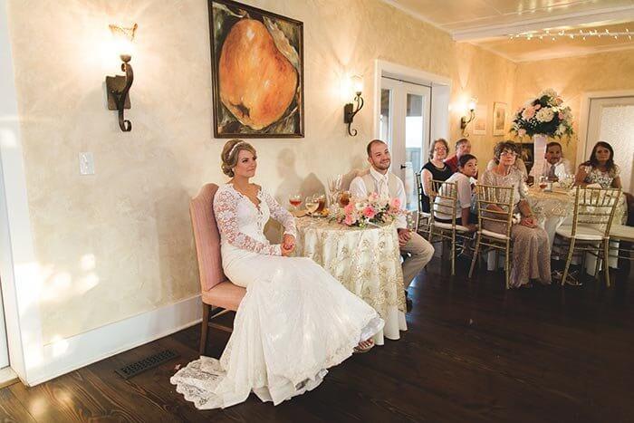 Tisch Brautpaar
