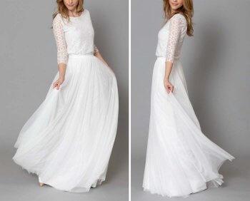 Standesamt Kleid lang