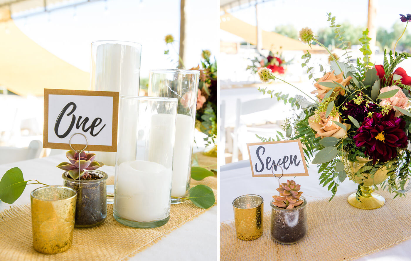 Tischnummern Hochzeit ausgeschrieben