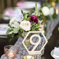 Tischnummern rosegold