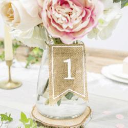 Vintage Tischnummer Hochzeit