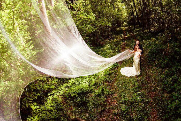 Fotoshooting Brautkleid zerstören