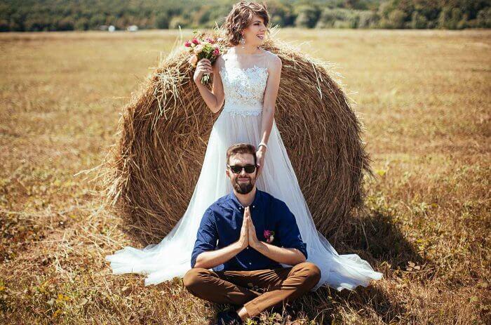 Fotoshooting Heuballen Trash the Dress