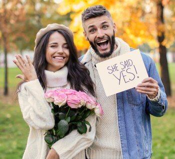 Geschenk für Verlobte